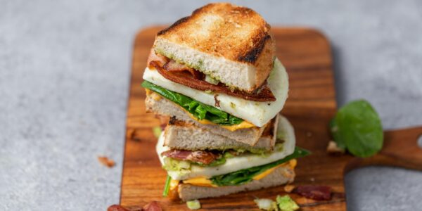 Egg White Patty & Bacon Breakfast Sandwiches