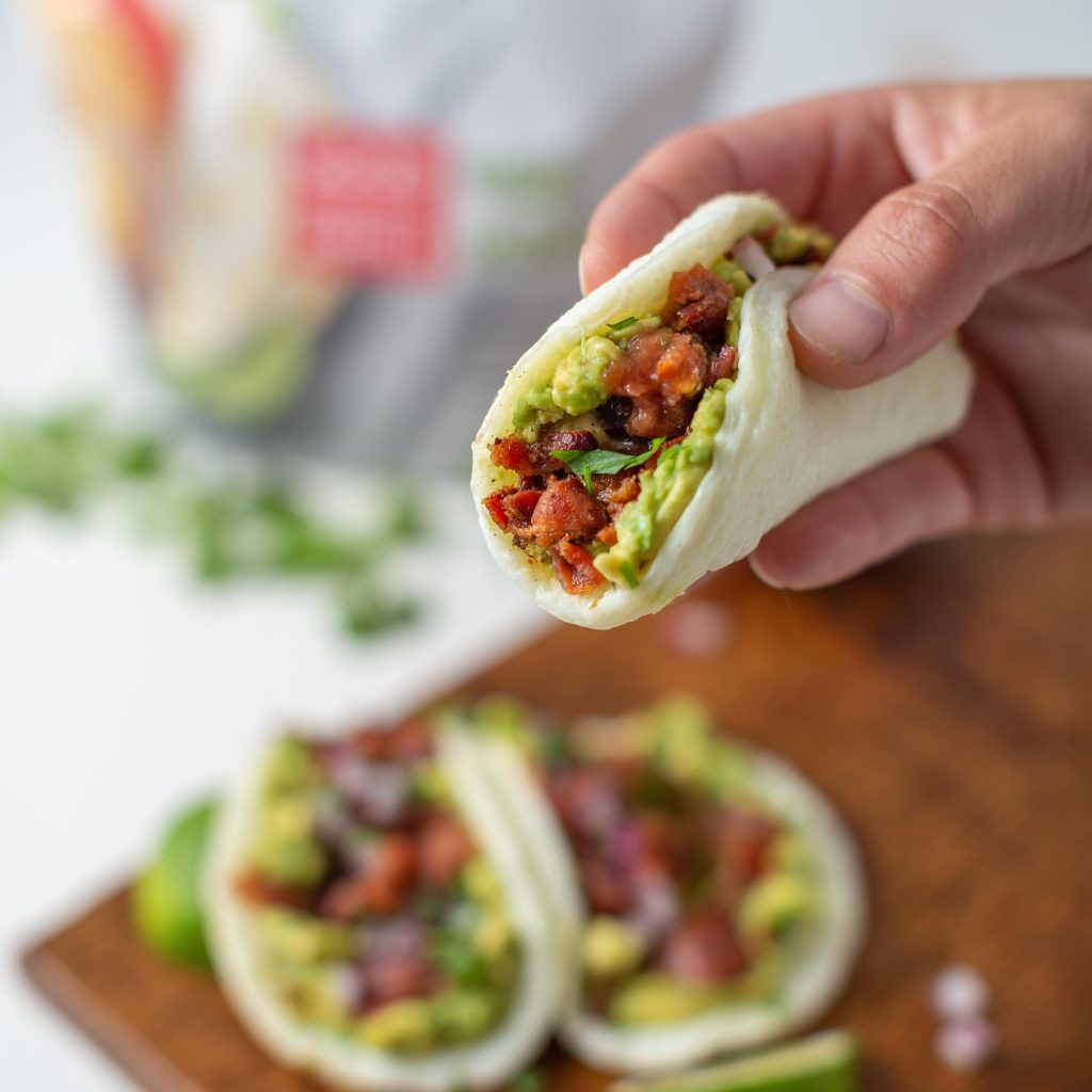 Low Carb Egg White Patty Breakfast Tacos