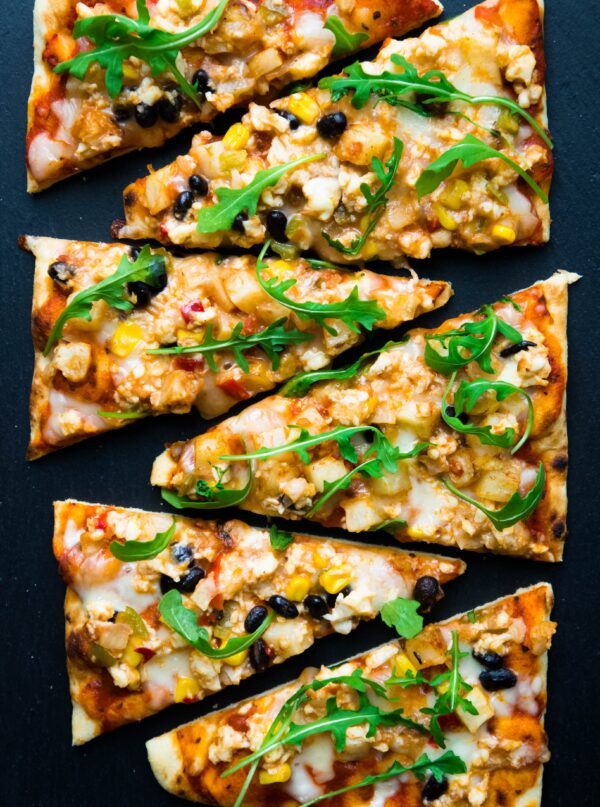 Southwestern Scramble Bowl Breakfast Flatbread Pizza