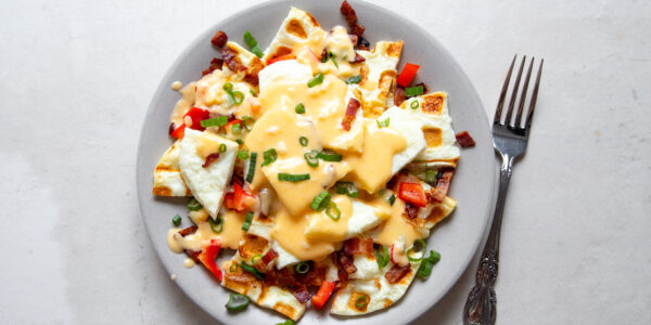 Low Carb Egg White Patty Breakfast Nachos