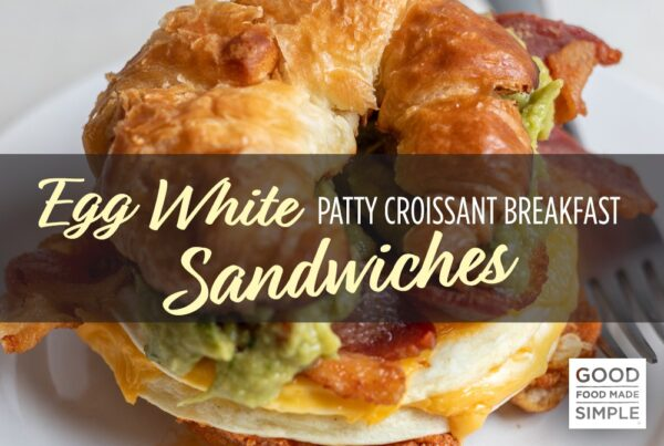 Egg White Patty Croissant Breakfast Sandwiches