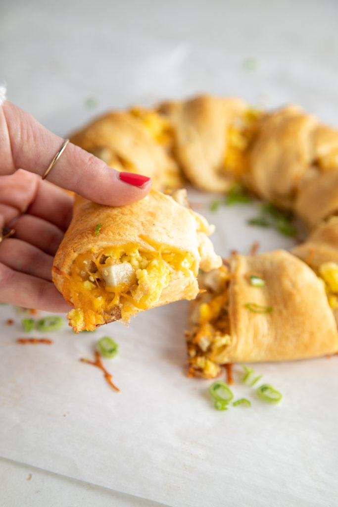 Bacon & Egg Breakfast Crescent Ring